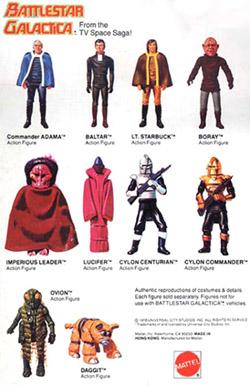 Battlestar Galactica figures cardback